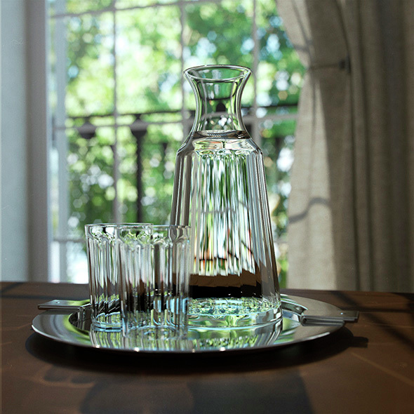decanter and glasses - 3DOcean Item for Sale