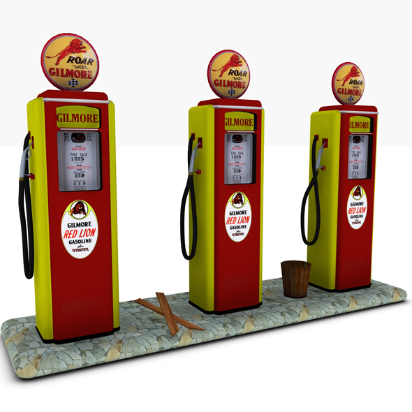 Gas Pump Gilmore - 3DOcean Item for Sale