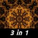 Gold Kaleidoscopes (3 pack)