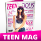 40 Pages A4 Teens Magazine
