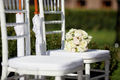 White chairs for the wedding ceremony