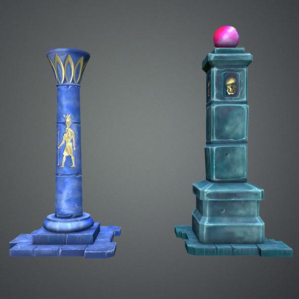 Fantasy Pillar Collection - 3DOcean Item for Sale