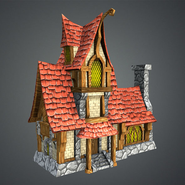 Low Poly Fairytale House - 3DOcean Item for Sale