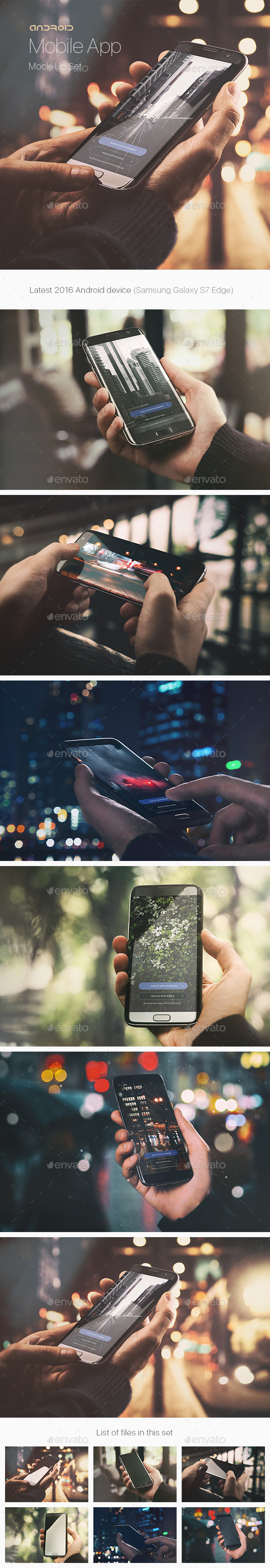 Android Phone App Mock-Up / Urban Edition