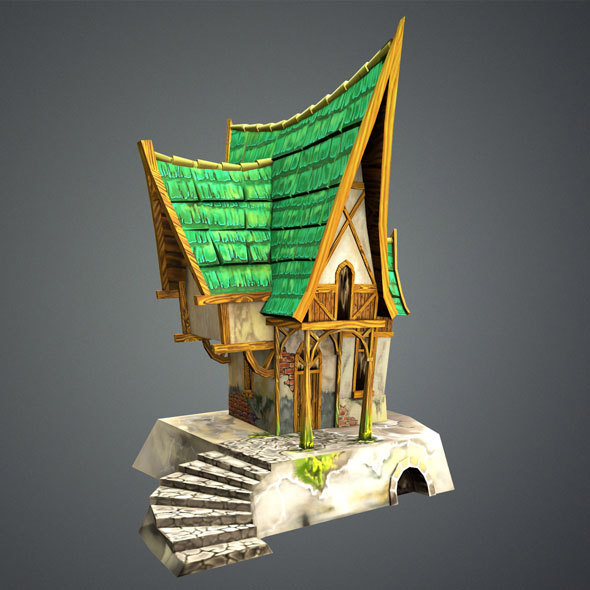 Low Poly Green House - 3DOcean Item for Sale