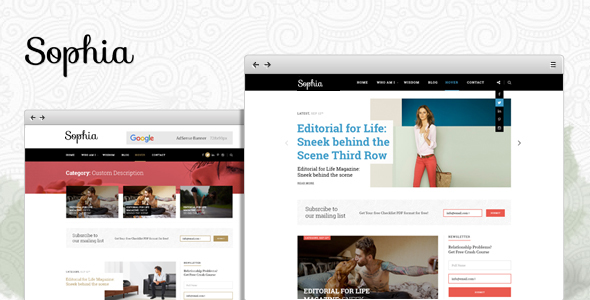 Sophia - Creative Blog WordPress Theme