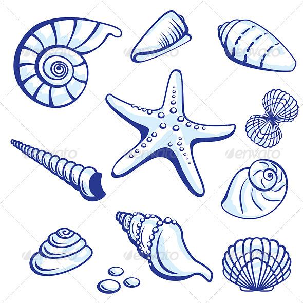 Sea Set - Tattoos Vectors