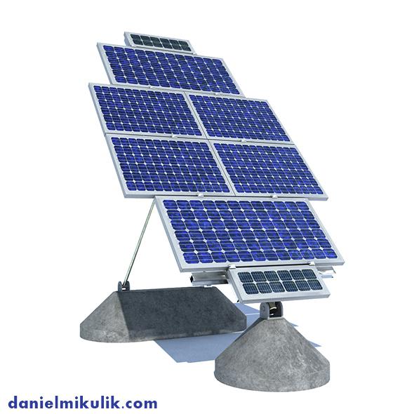 Solar Panel Farm High Detaile - 3DOcean Item for Sale