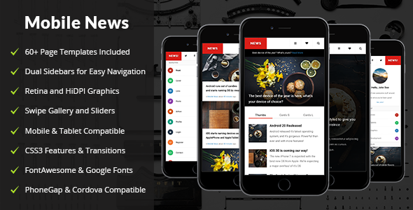 News | Mobile & Tablet Responsive Template