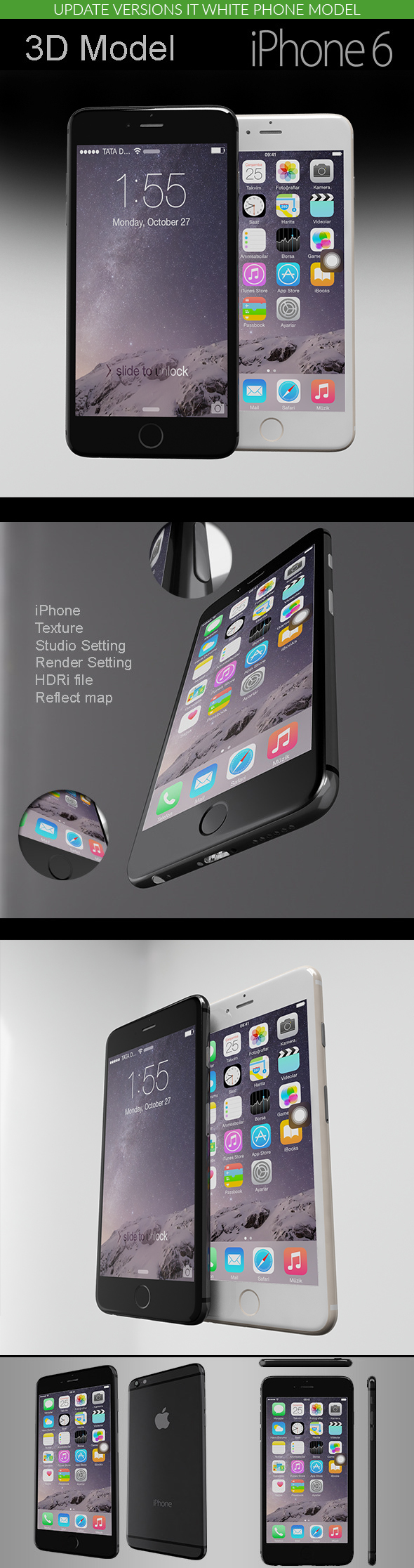 iPhone 6 - Element3D - 3DOcean Item for Sale