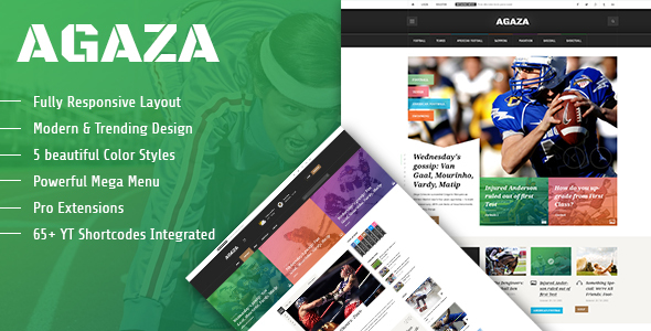 Download Agaza - Responsive Joomla Template For News/Magazines