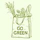 Eco Bag with Fresh Food