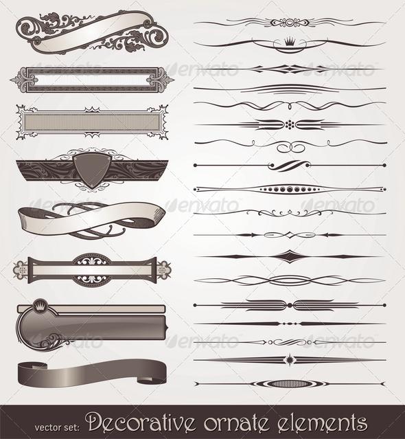 Graphic River Decorative Design Elements & Page Decor Vectors -  Decorative 1500749