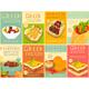 Greek Food Posters Set