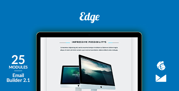 Edge Email Template + Online Emailbuilder 2.1