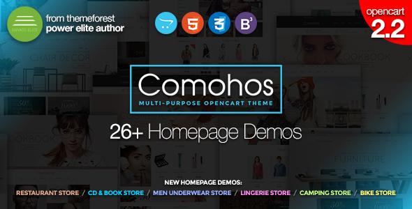 Comohos - Multipurpose Responsive Premium OpenCart 2.2 Theme with 28+ Unique Designs