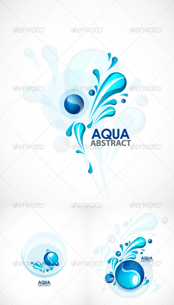 Aqua vector backgrounds