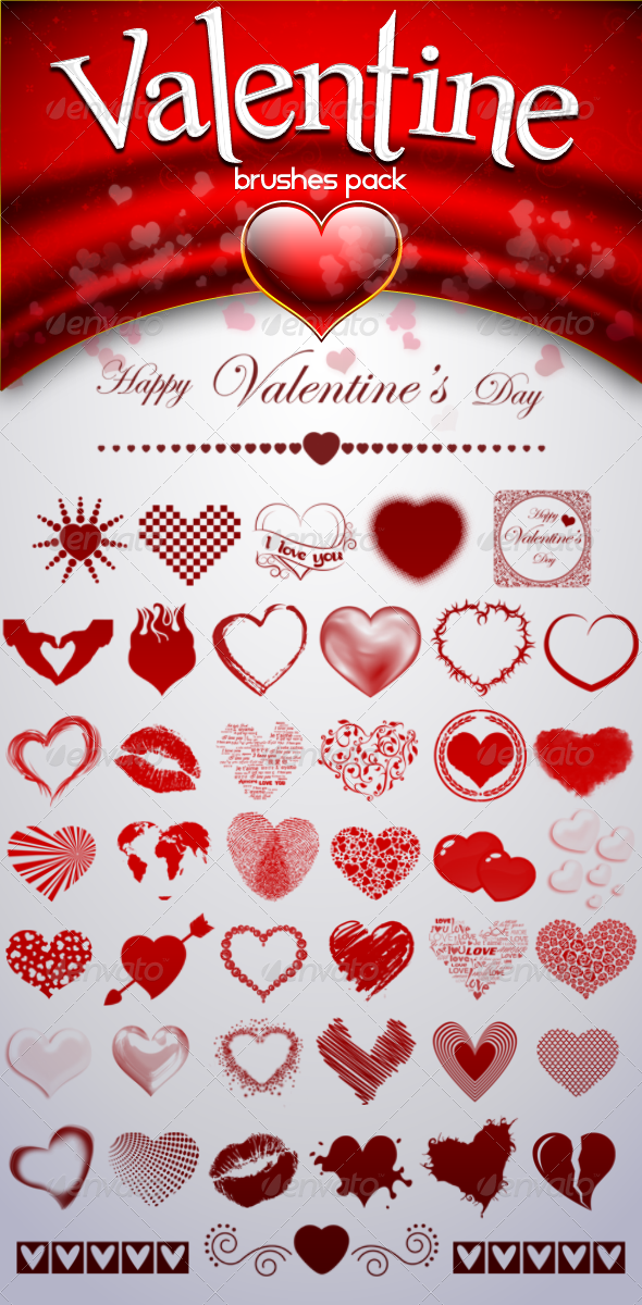 Valentine's Brushes Pack - Miscellaneous Brushes