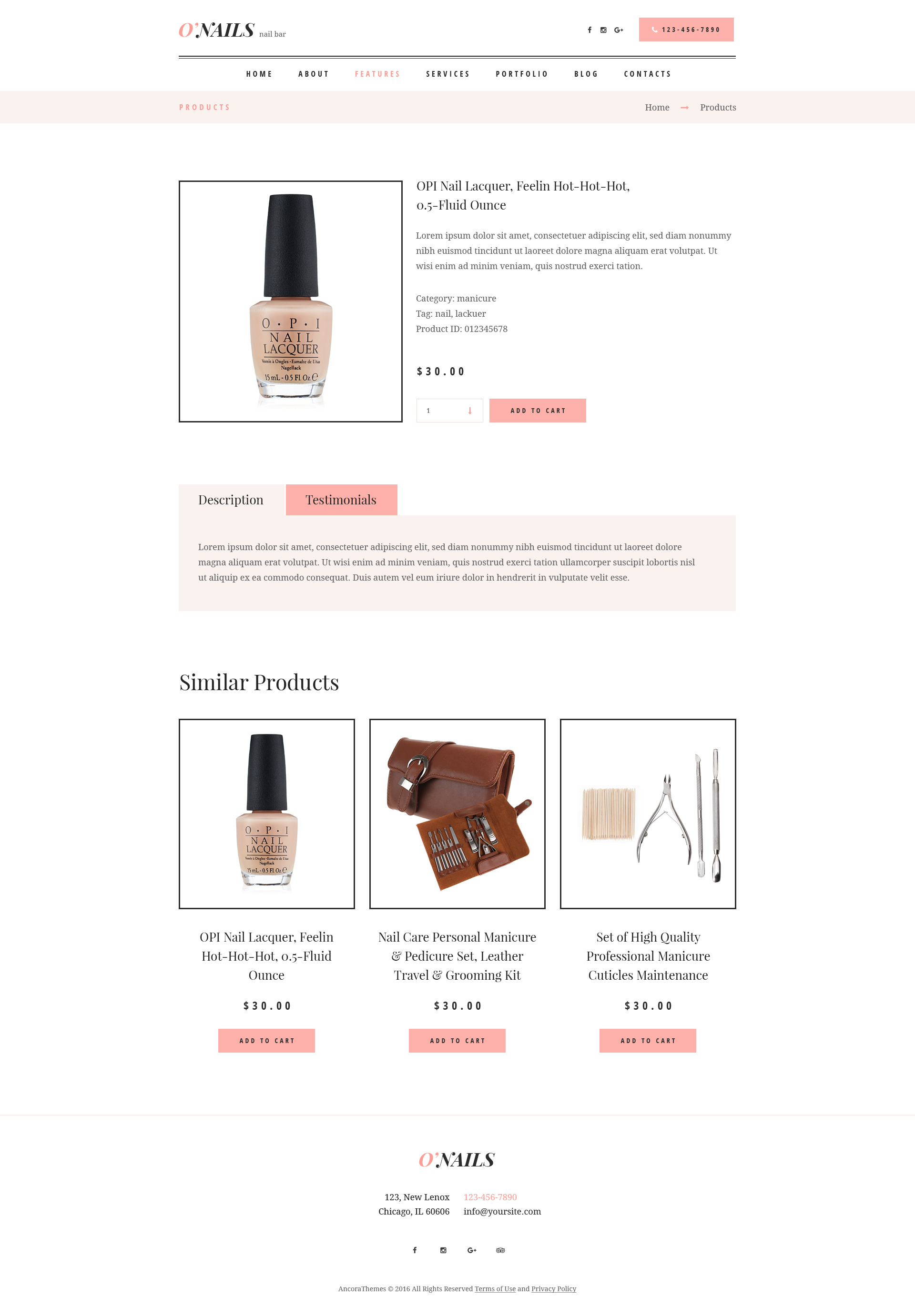 o nails nail bar beauty salon wordpress theme by ancorathemes o nails nail bar beauty salon wordpress theme