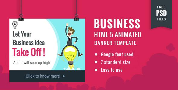 Business | HTML5 Google Banner Ad 18