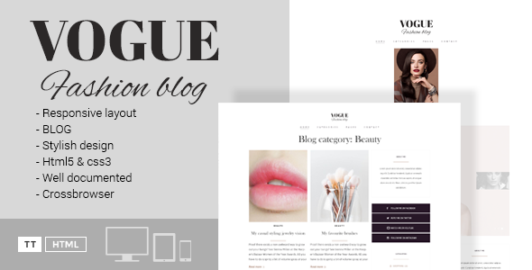 Vogue - A Fashion Blog HTML Template