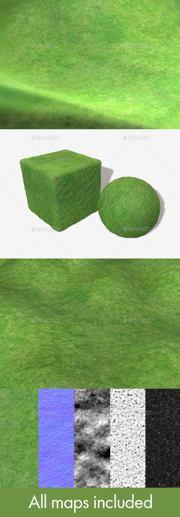 Grass Birds Eye View Seamless Texture - 3DOcean Item for Sale