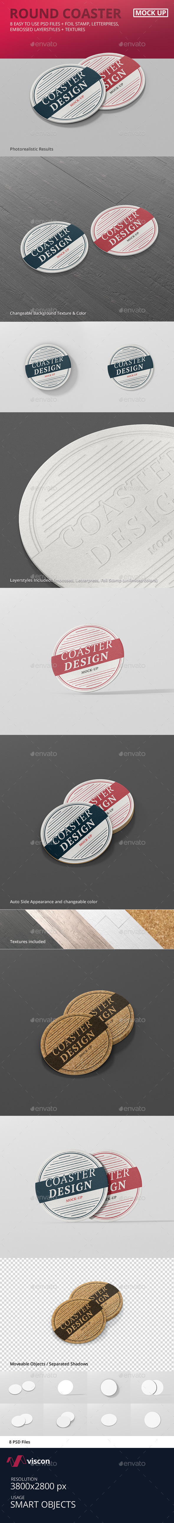 Round Coaster Mock-Up (Stationery)