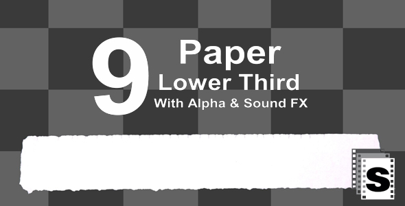 Download Paper Lower Third nulled download