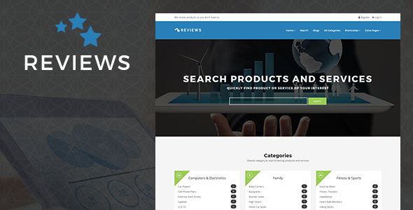 Download Reviews - Products And Services Review WP Theme nulled download
