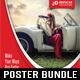 4 Automotive Car Rental Poster Bundle