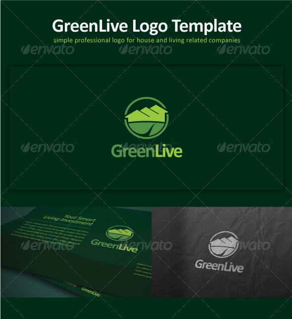 Green Live Logo Template - Buildings Logo Templates