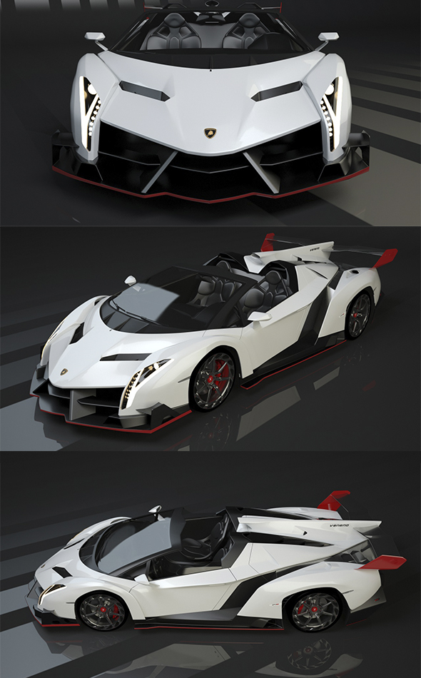 Lamborghini Veneno roadster - 3DOcean Item for Sale
