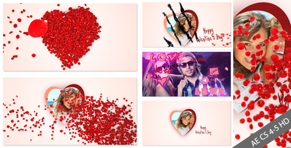 After Effects Project - VideoHive Roses and Valentine's Day 1479756