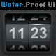 Water Proof Style User Interface Elements - GraphicRiver Item for Sale