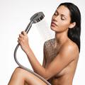 Sexy beautiful woman in shower washing  body