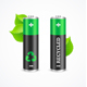 Recycled Battery Eco Concept