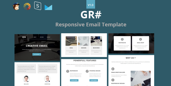 Grow - Responsive Email + StampReady Builder