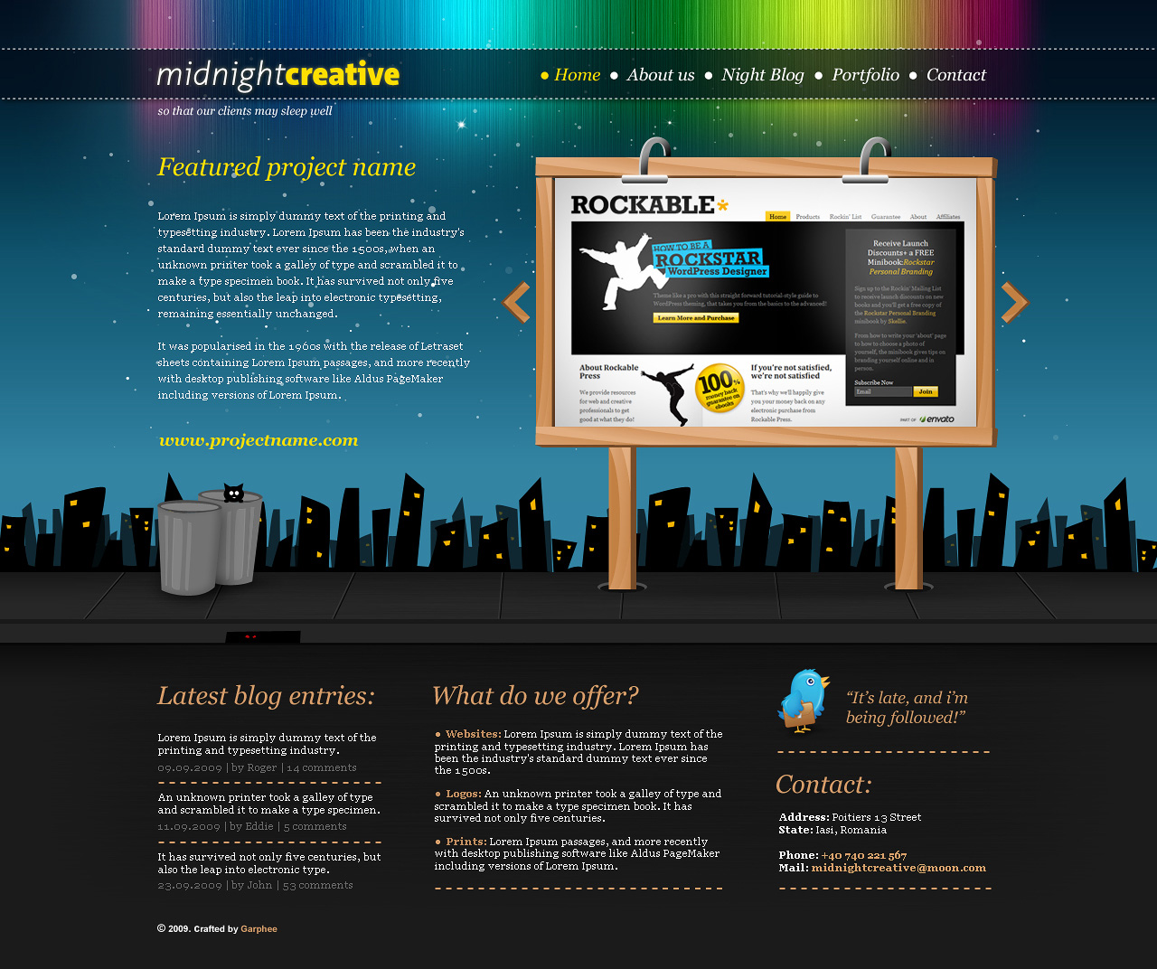 MidnightCreative - Portfolio Template