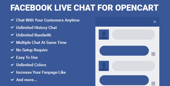 Facebook Live Chat for OpenCart