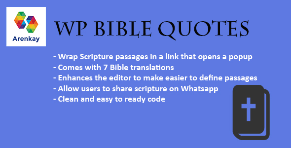 Download WP Bible Quotes nulled download