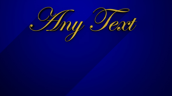 Golden Text Long Shadow - 3DOcean Item for Sale