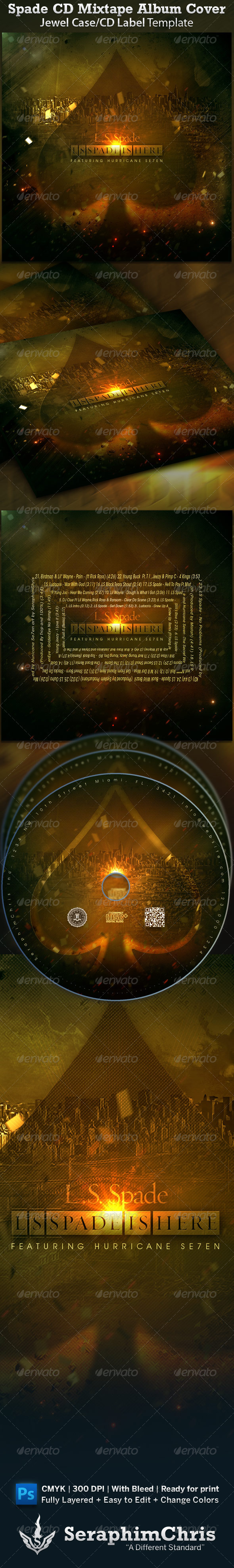 GraphicRiver Spade CD Cover Mixtape Template 1545913