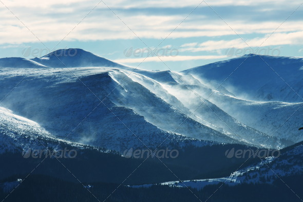 Winters mountains - Stock Photo - Images