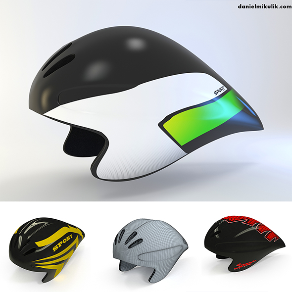 Time Trial Helmet  - 3DOcean Item for Sale
