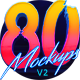 80's Style Text Mockups V2