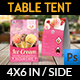 Ice Cream Table Tent Template Vol.2