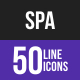 Spa Line Inverted Icons