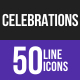 Celebrations Line Inverted Icons