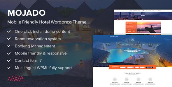 Download Mojado - Mobile Friendly Hotel WordPress Theme nulled download
