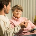 Caregiver and senior lady